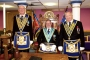 Worshipful Master with Senior & Junior Wardens